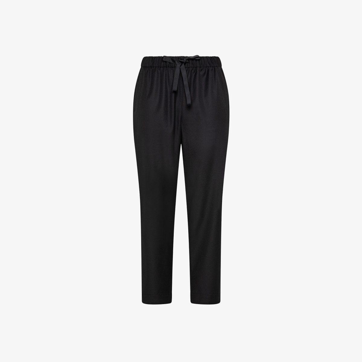 PANT SOLID WITH ELASTIC BLACK