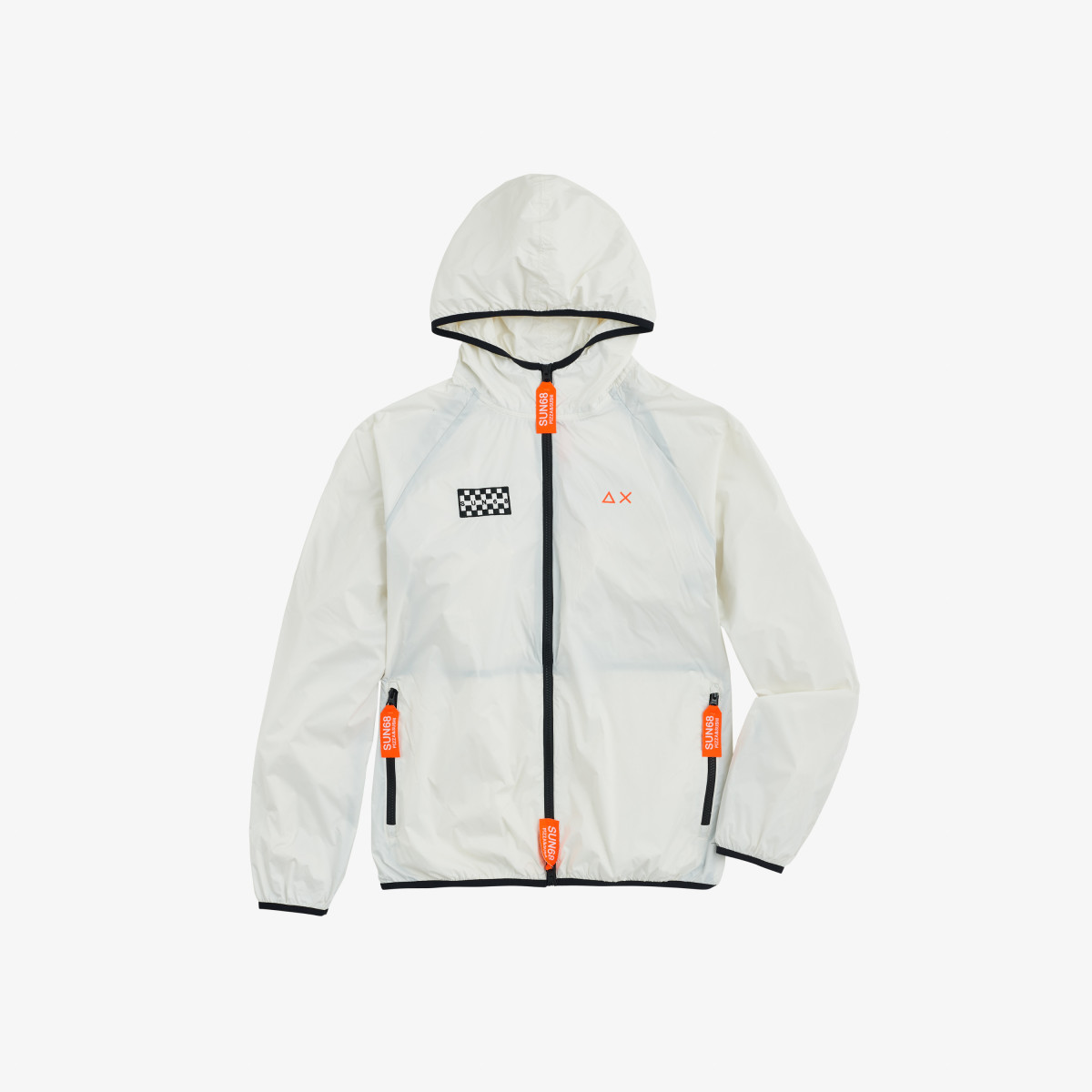 RAIN JACKET SOLID FANCY BIANCO