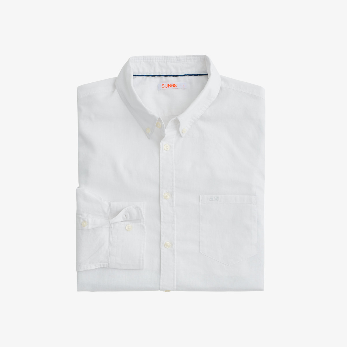 SHIRT BUTTON DOWN LINEN L/S BIANCO PANNA