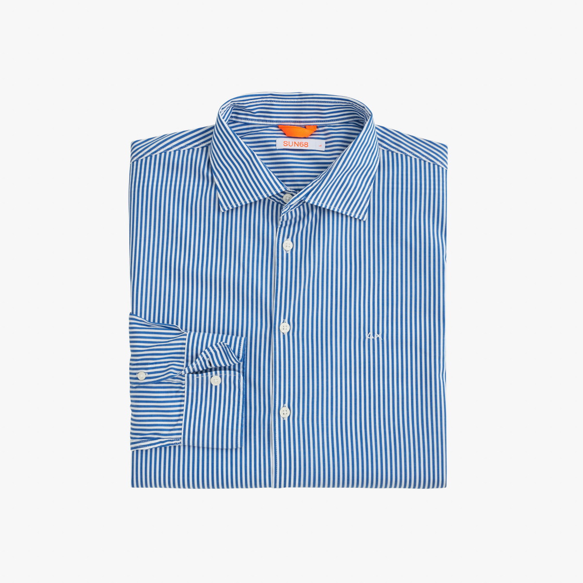 SHIRT CLASSIC STRIPES L/S DEEP BLUE