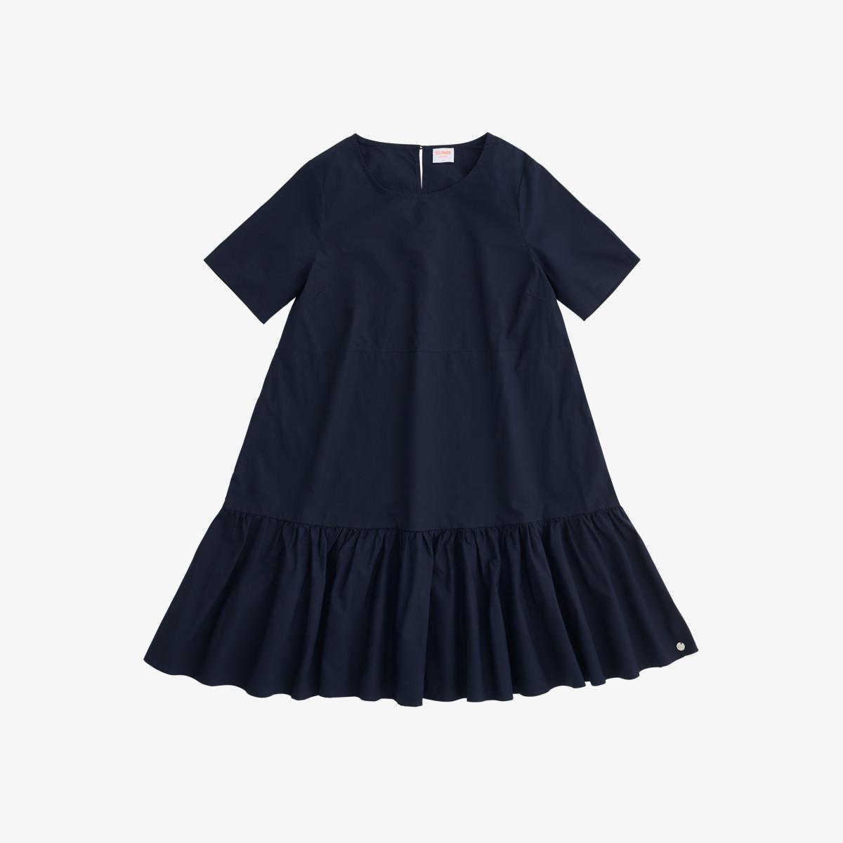 DRESS S/S NAVY BLUE