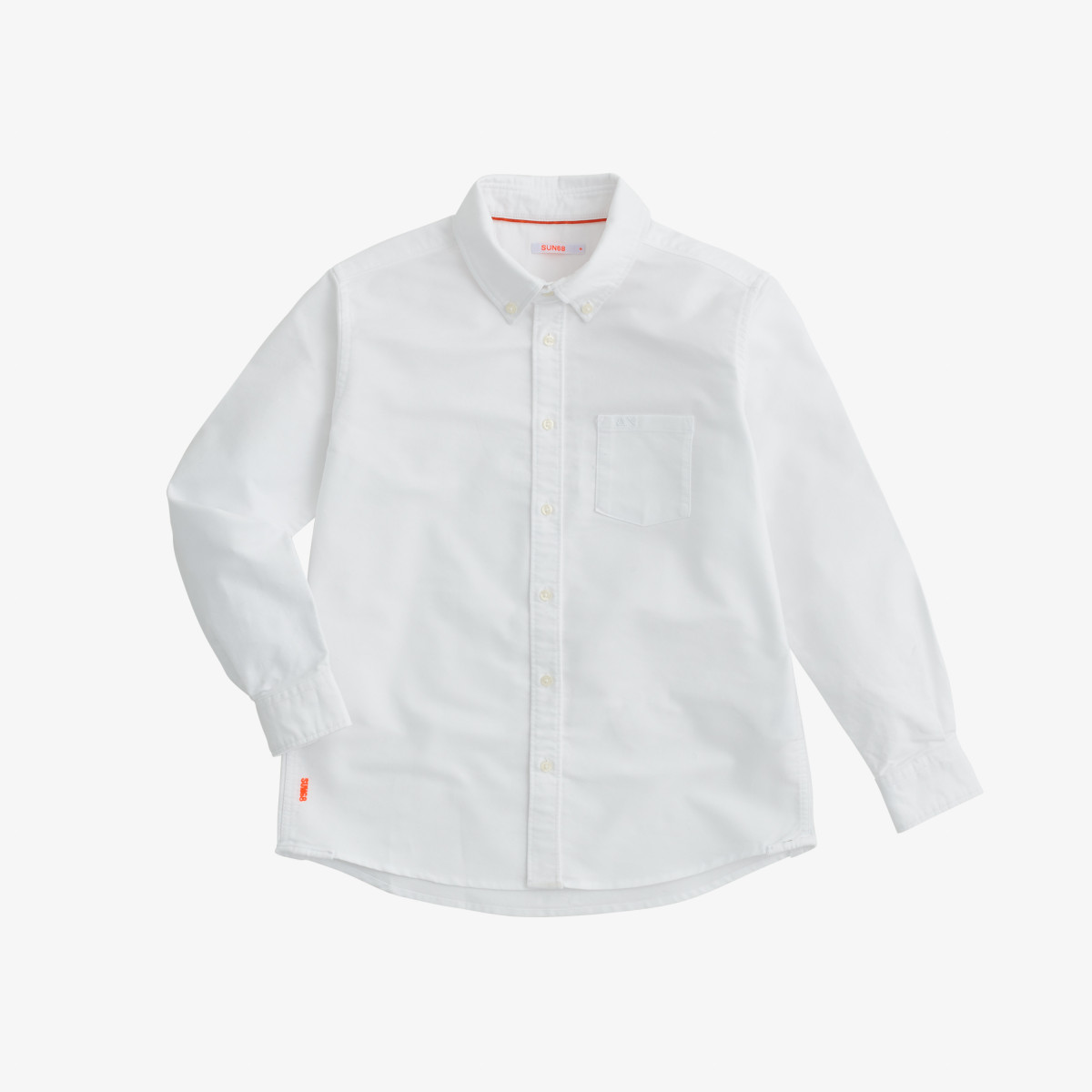 BOY'S SHIRT OXFORD B/D L/S WHITE