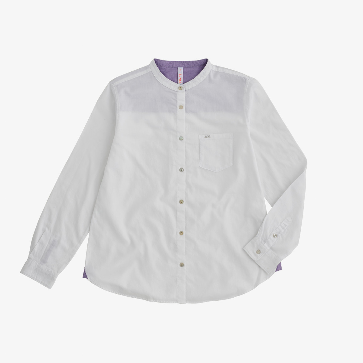 SHIRT KOREA COLLAR L/S WHITE