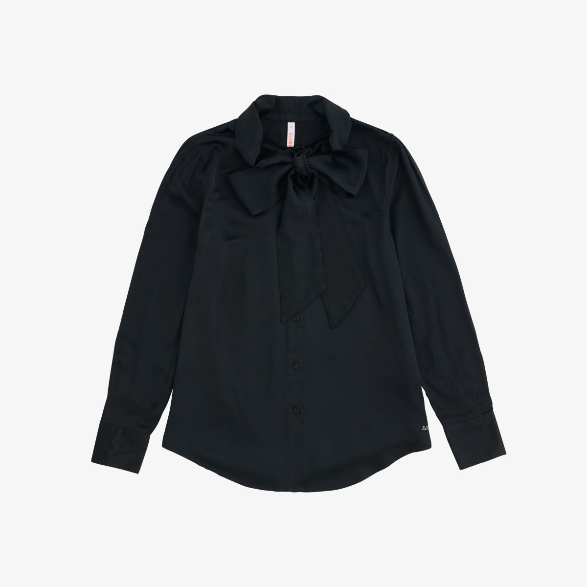 KNOT COLLAR SHIRT L/S BLACK
