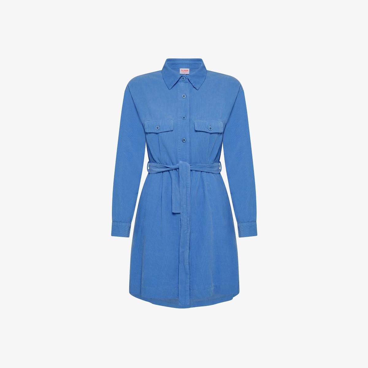 CHEMISIER DRESS L/S BLUE