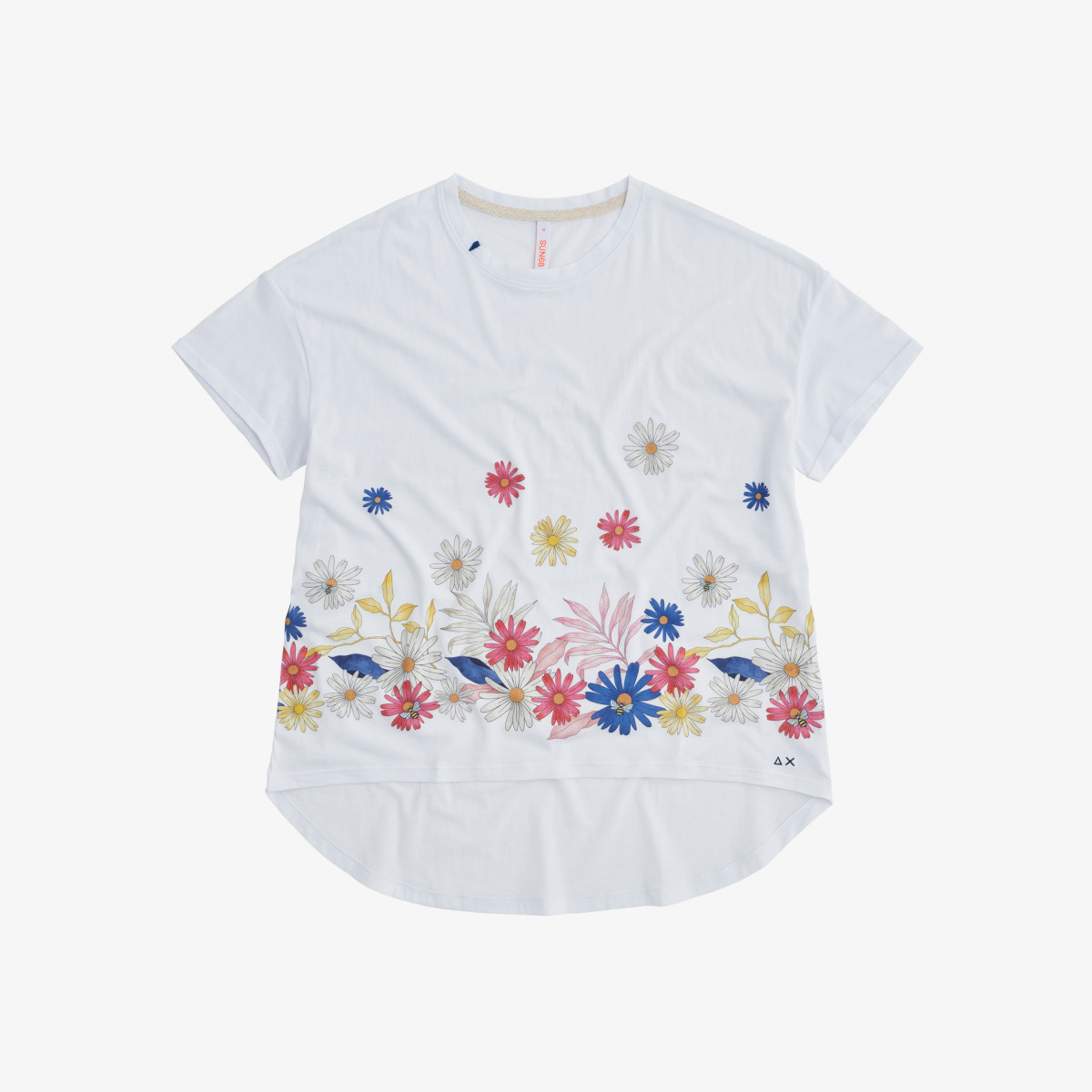 ROUND T-SHIRT PRINT CHEST S/S WHITE