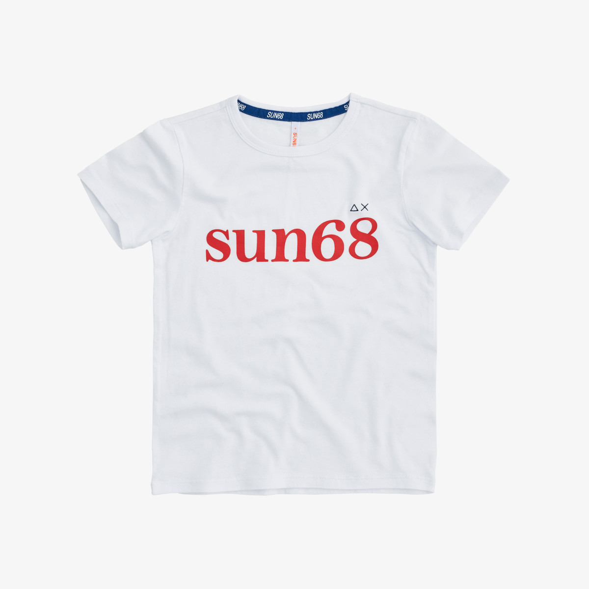 BOY'S T-SHIRT ROUND PRINT ON CHEST BIANCO