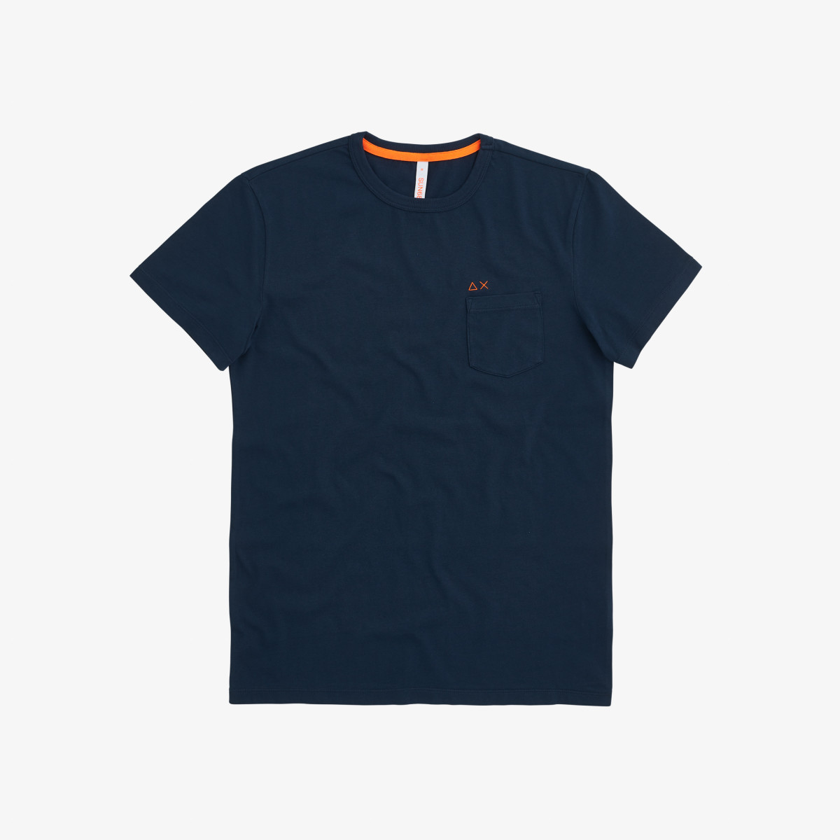 T-SHIRT ROUND SOLID POCKET NAVY BLUE