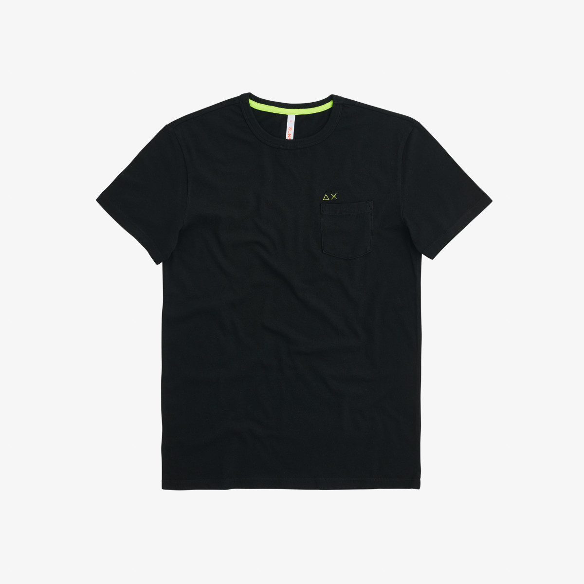 T-SHIRT ROUND SOLID POCKET BLACK