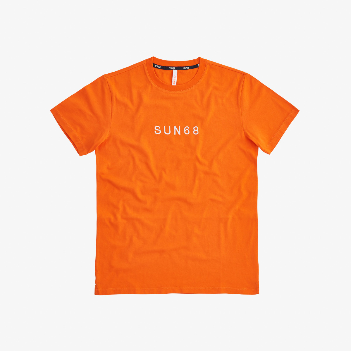 T-SHIRT SMALL LOGO ON CHEST ORANGE