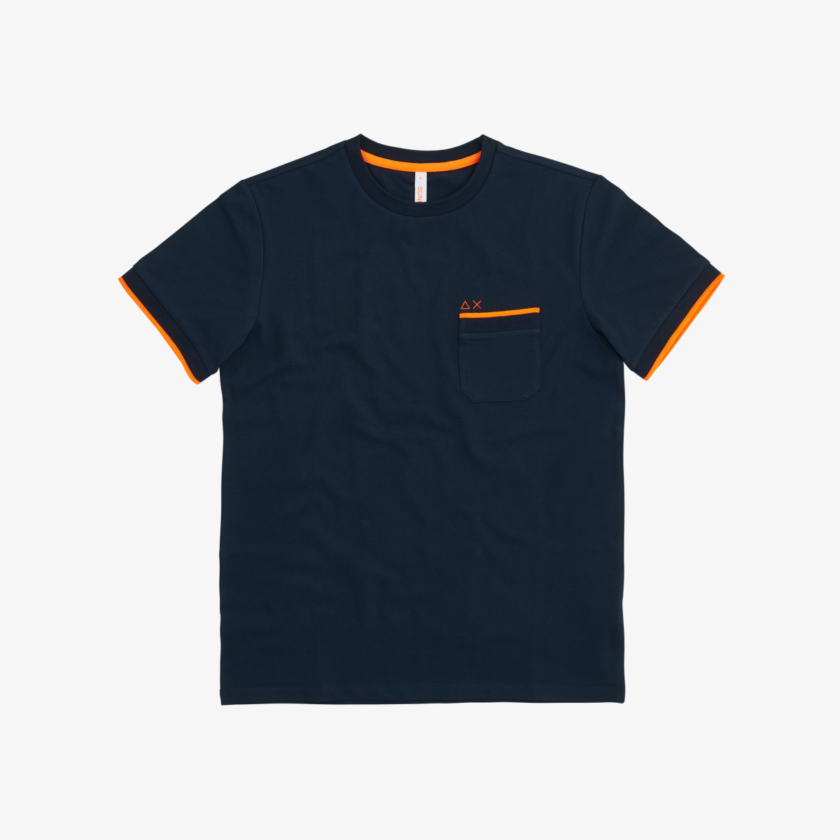T-SHIRT KNIT RIB EL. NAVY BLUE