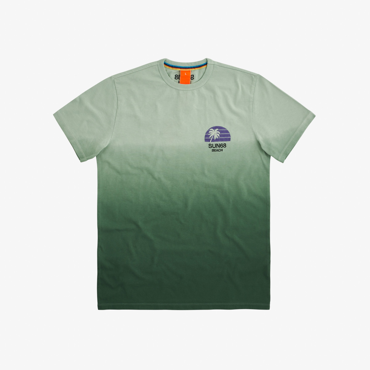 T-SHIRT HANG DYE VERDE SALVIA