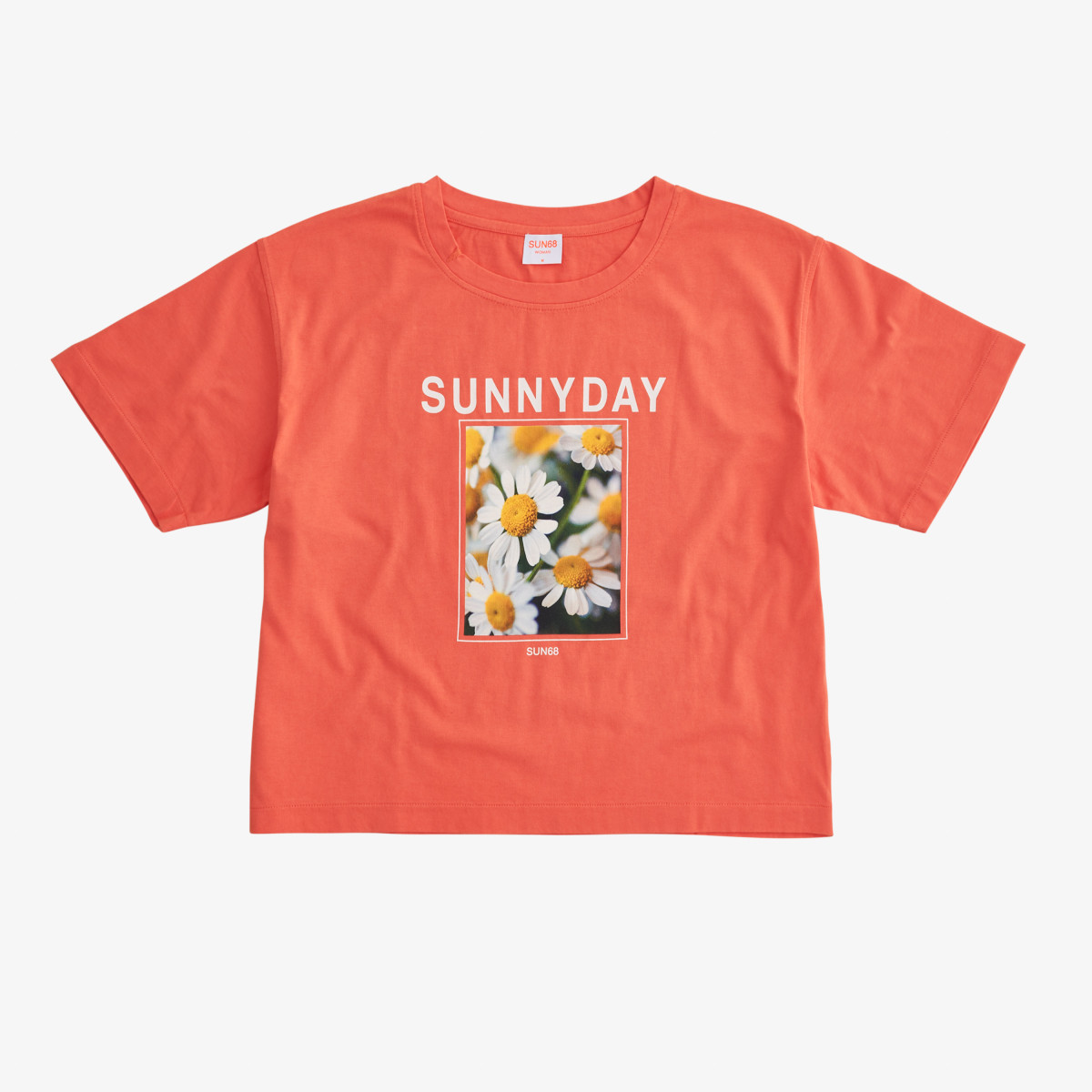 T-SHIRT OVER FANCY PRINT S/S CORAL