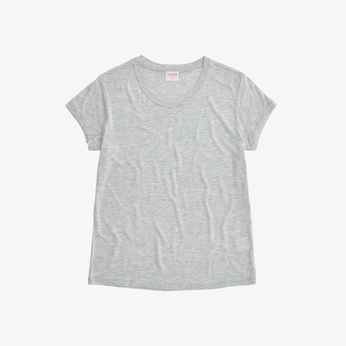 T-SHIRT ROUND S/S LIGHT GREY