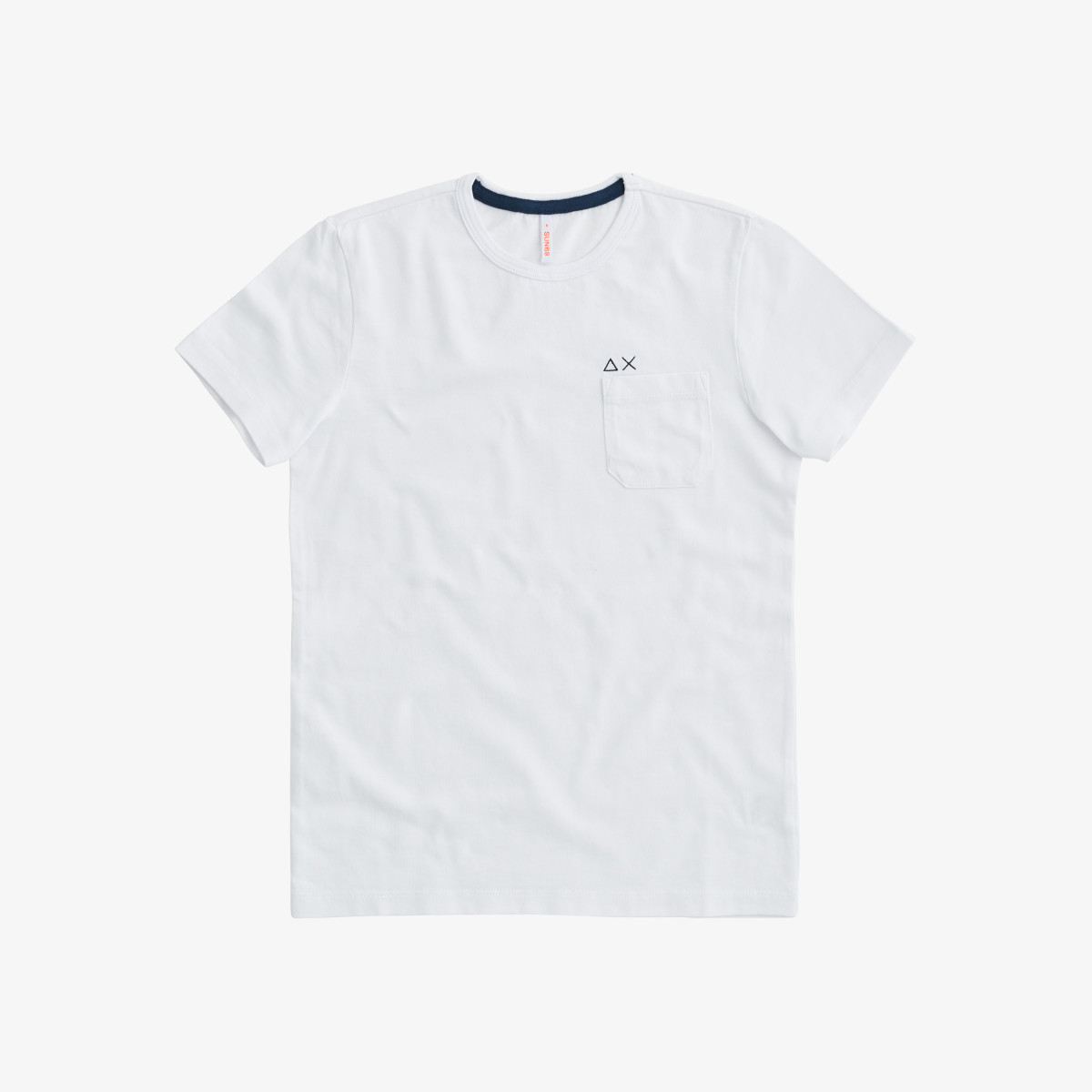 BOY'S T-SHIRT ROUND SOLID POCKET WHITE