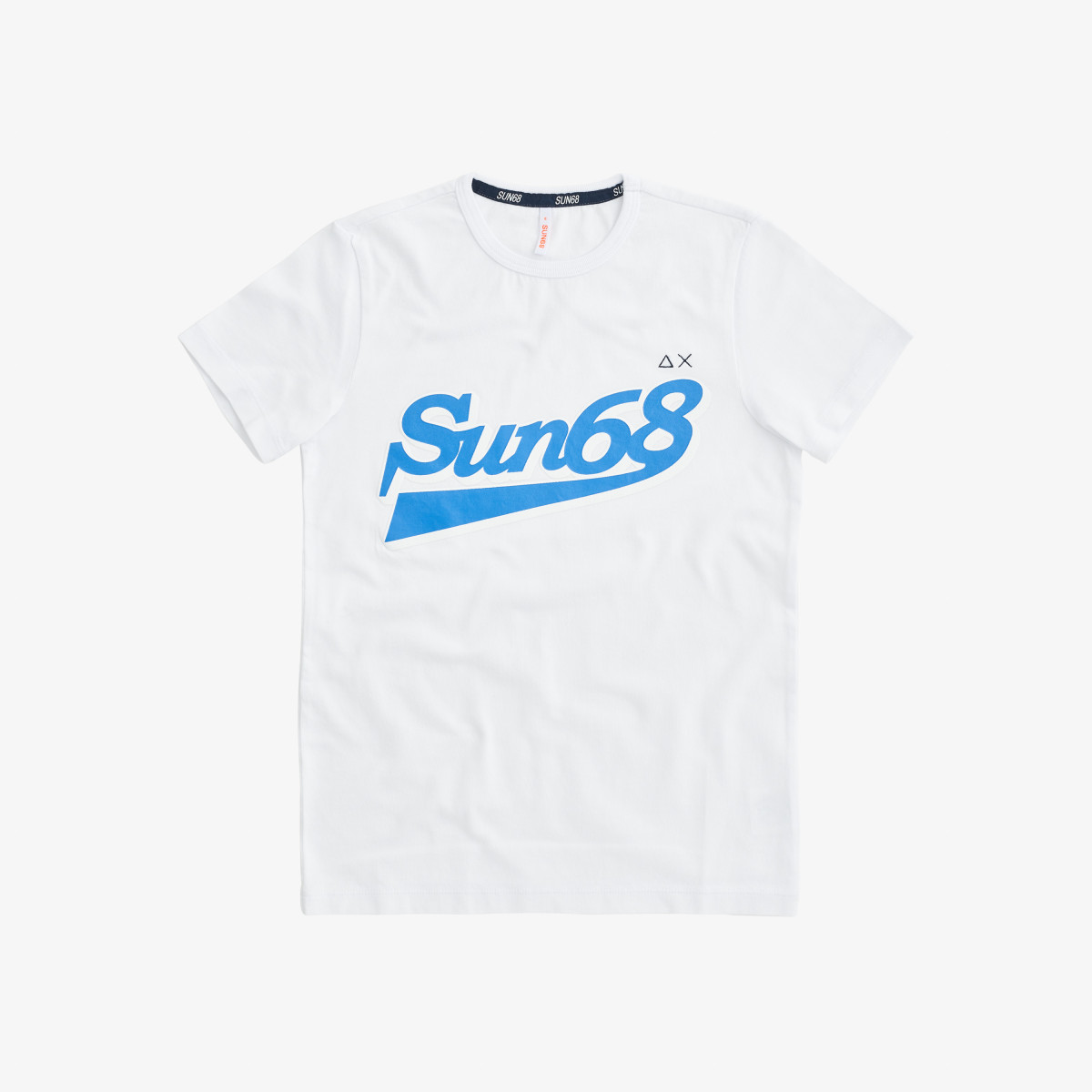 BOY'S T-SHIRT BIG LOGO ON CHEST WHITE