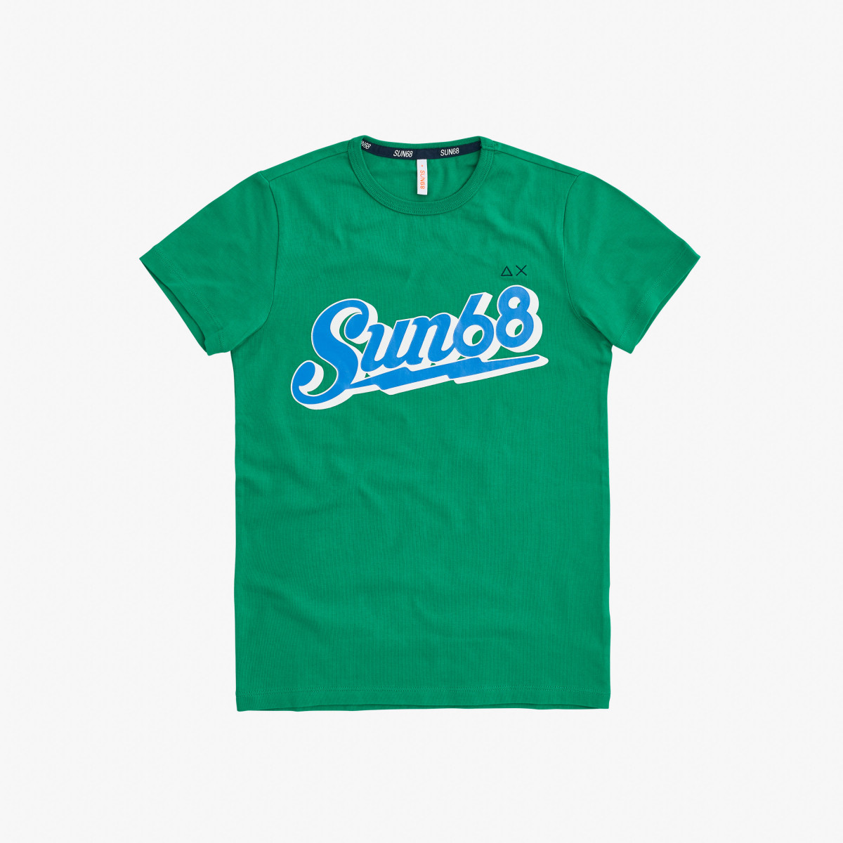 BOY'S T-SHIRT BIG LOGO ON CHEST VERDE PRATO