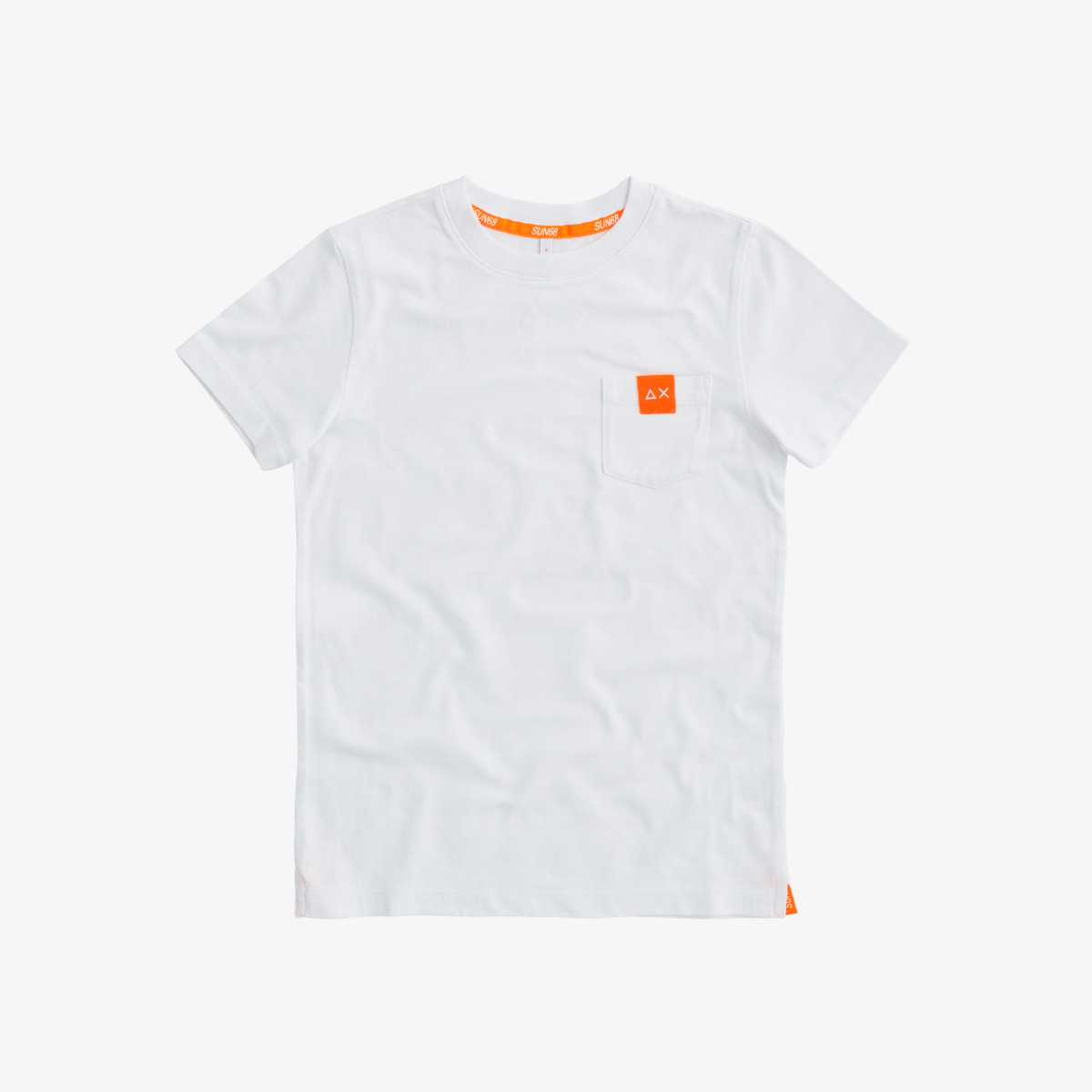 BOY'S T-SHIRT POCKET LOGO WHITE
