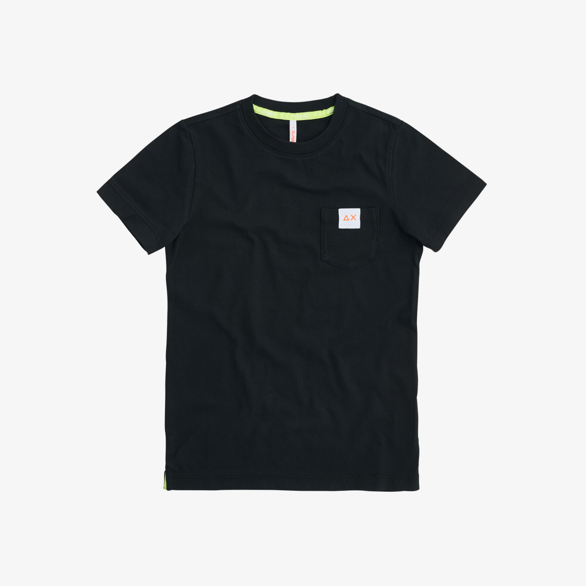 BOY'S T-SHIRT POCKET LOGO NERO