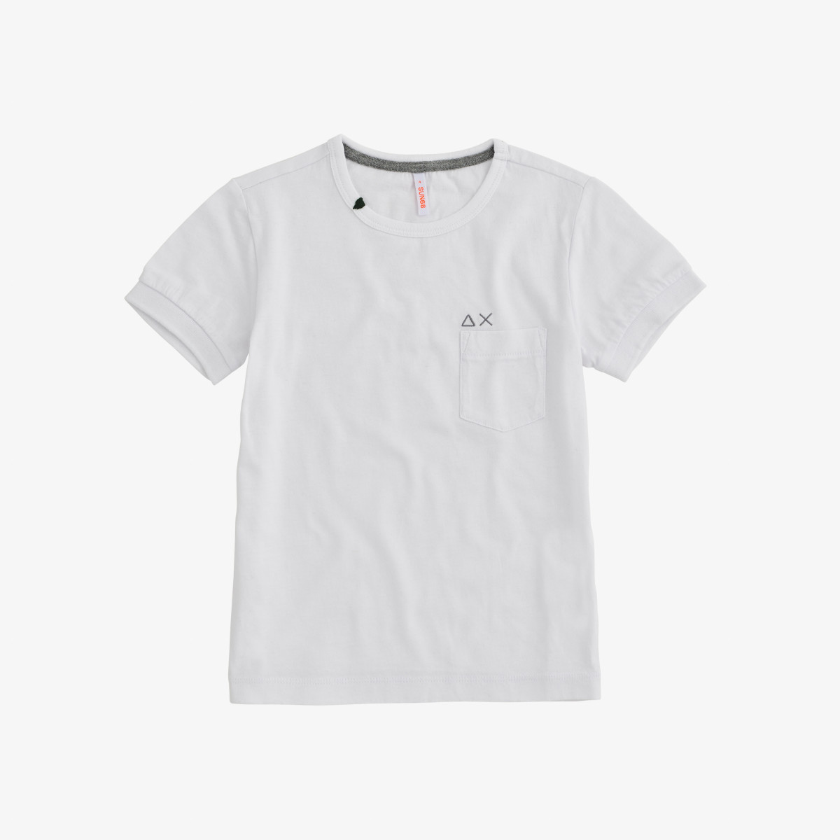 BOY'S T-SHIRT POCKET SOLID S/S WHITE
