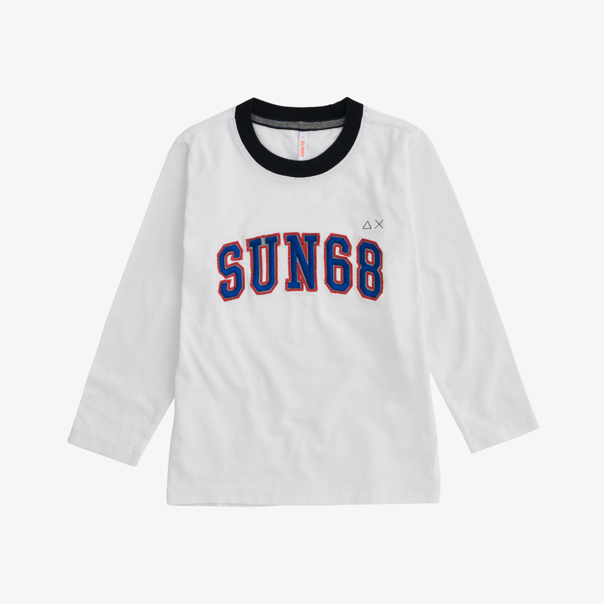 BOY'S T-SHIRT PRINT ON CHEST L/S BIANCO