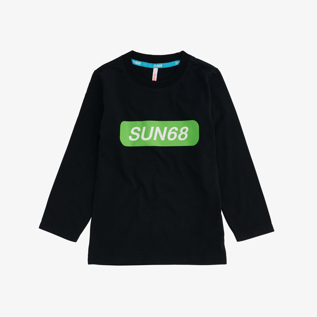 BOY'S T-SHIRT FLUO L/S BLACK