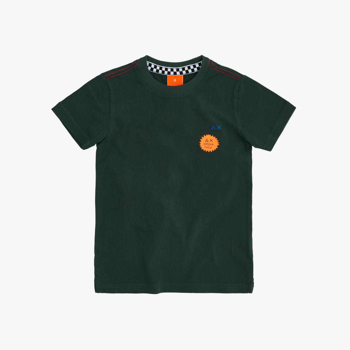 BOY'S T-SHIRT PATCH S/S DARK GREEN