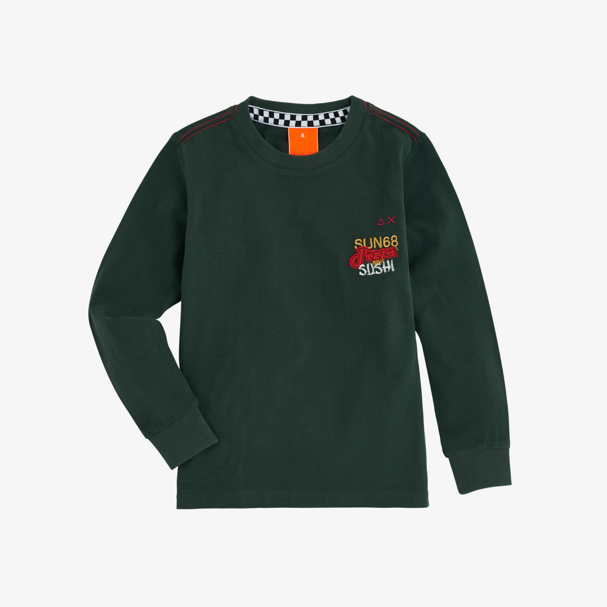 BOY'S T-SHIRT WITH PRINT L/S DARK GREEN