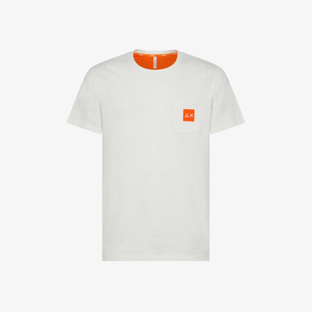 T-SHIRT SMALL LOGO FLUO S/S OFF WHITE