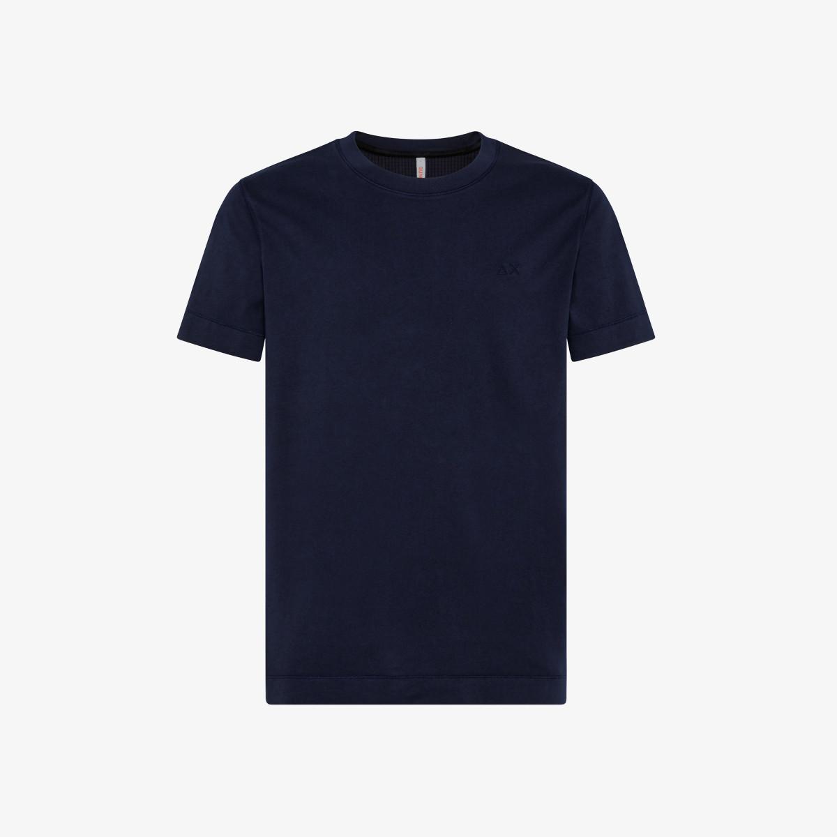 T-SHIRT COLD DYE S/S NAVY BLUE