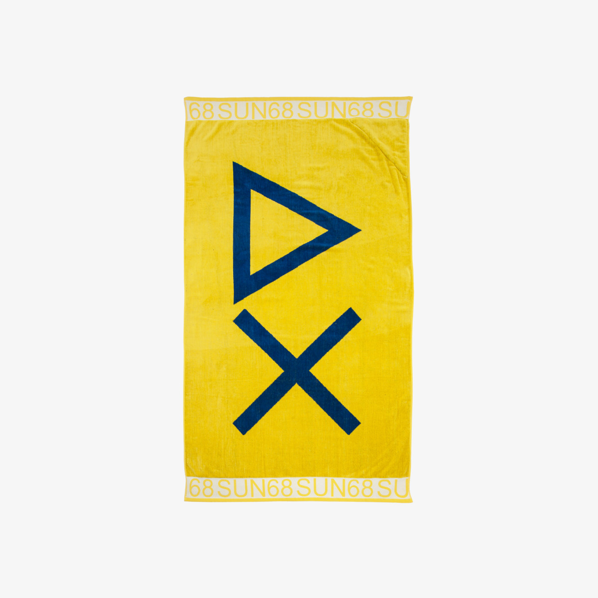 BEACH TOWEL LOGO GIALLO/ROYAL