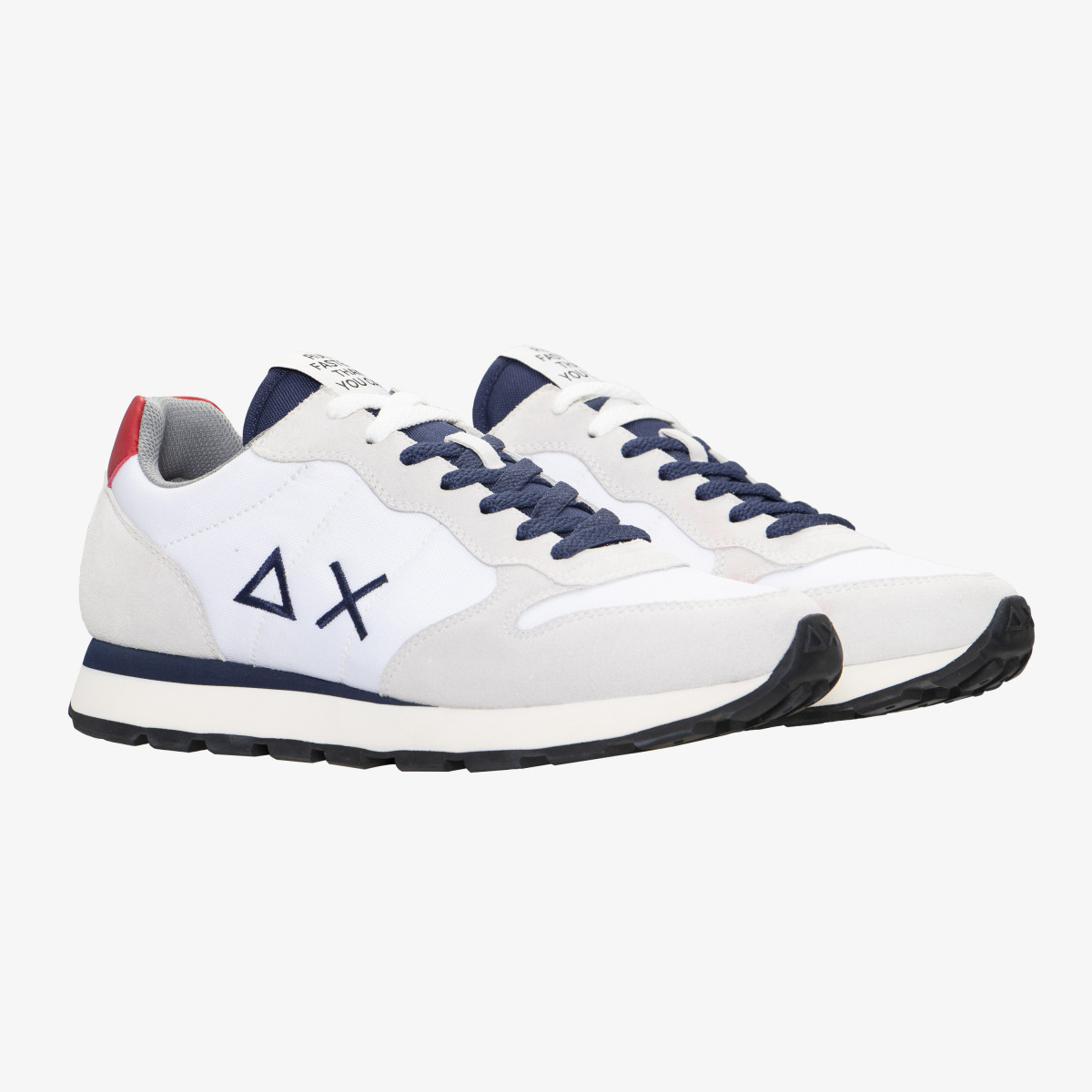 TOM SOLID NYLON WHITE/NAVY BLUE