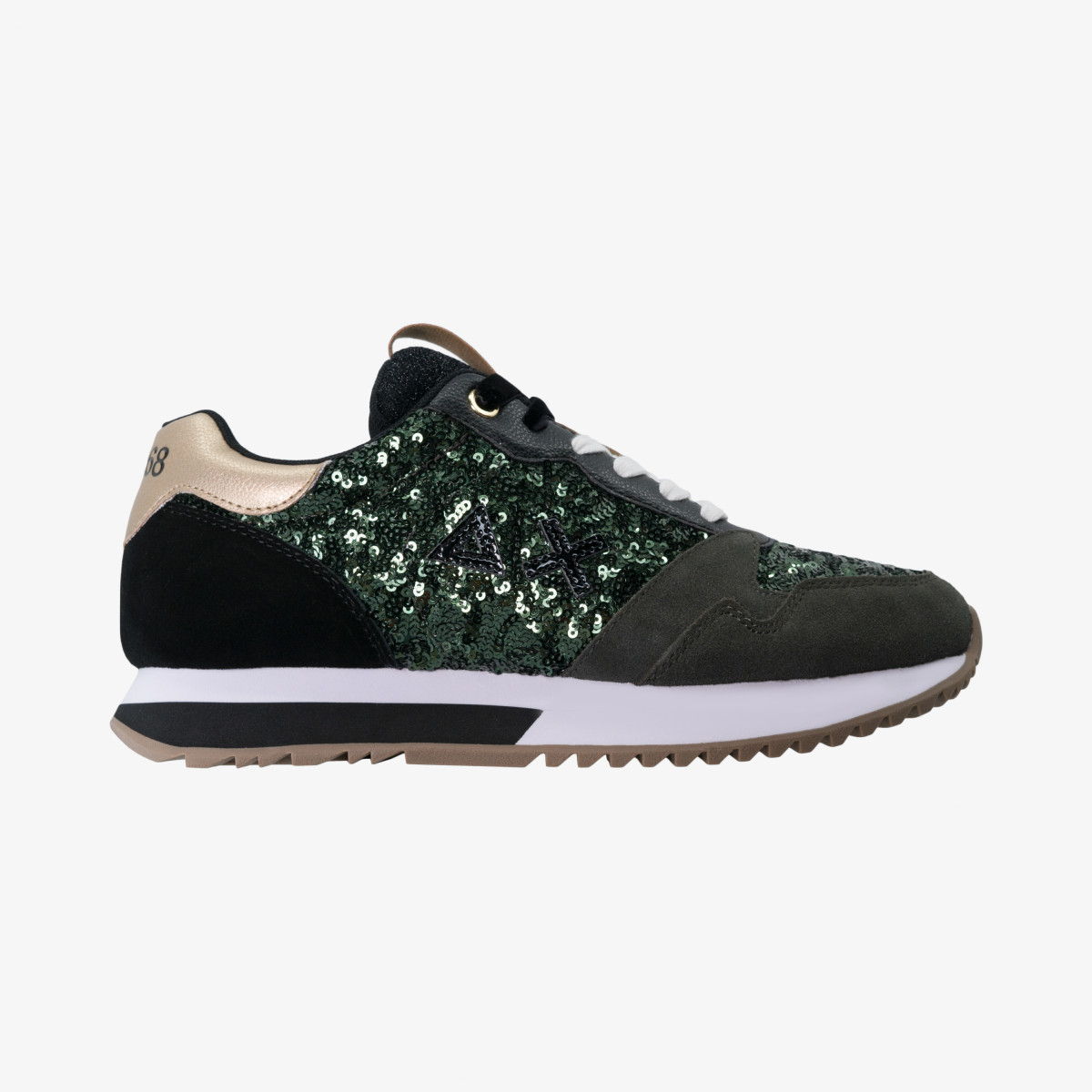 KELLY SOLID PAILLETTES MILITARE SCURO