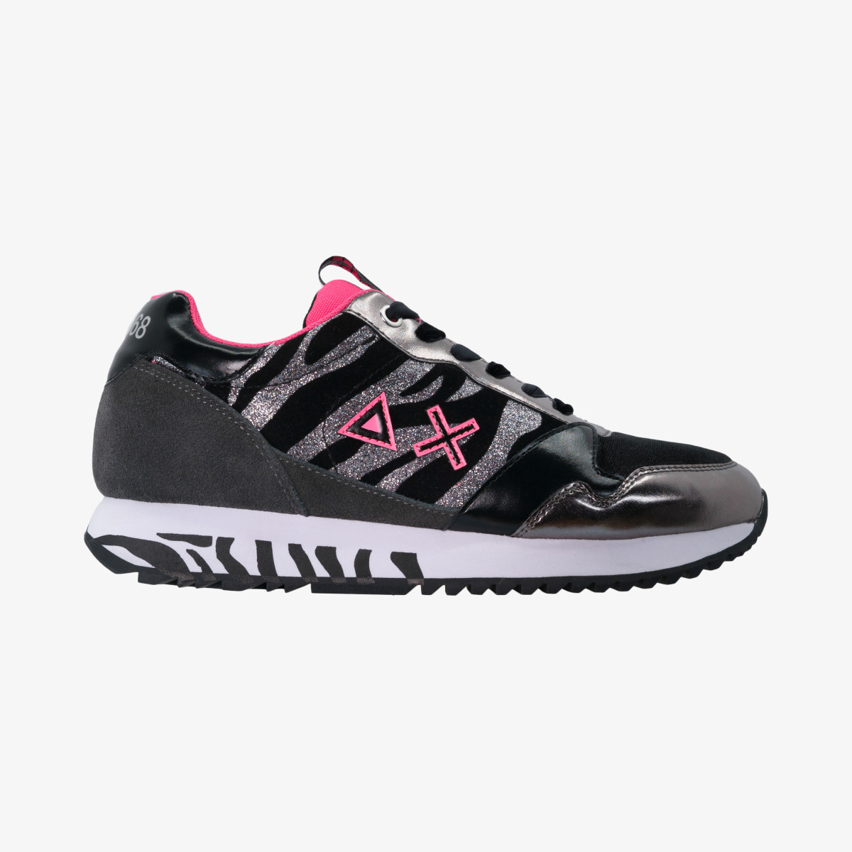 KELLY ZEBRA DARK GREY/FUXIA