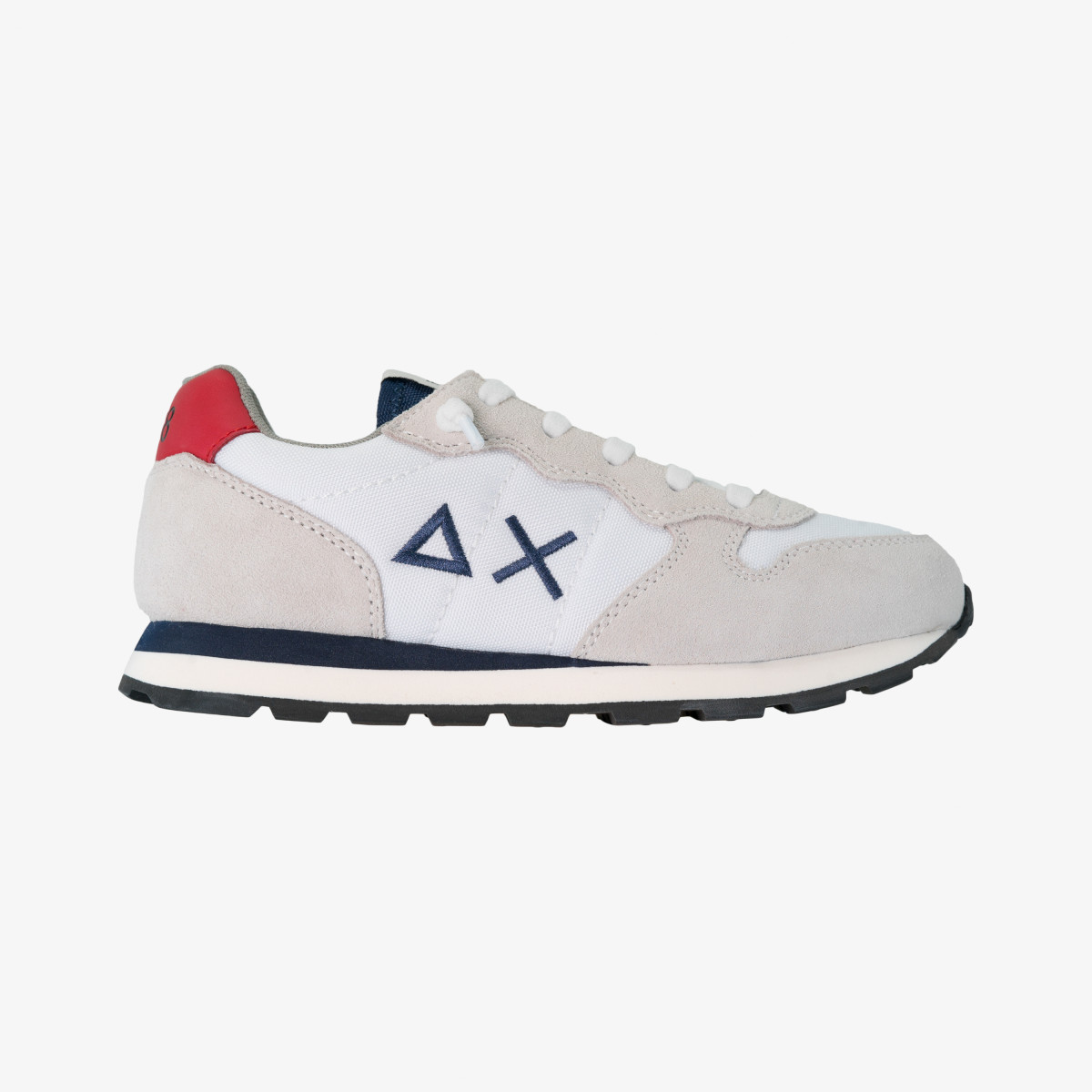 BOY'S TOM SOLID NYLON WHITE/NAVY BLUE