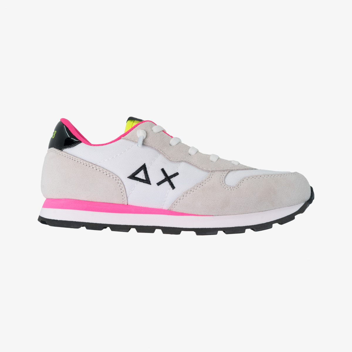 GIRL'S ALLY SOLID WHITE/YELLOW FLUO
