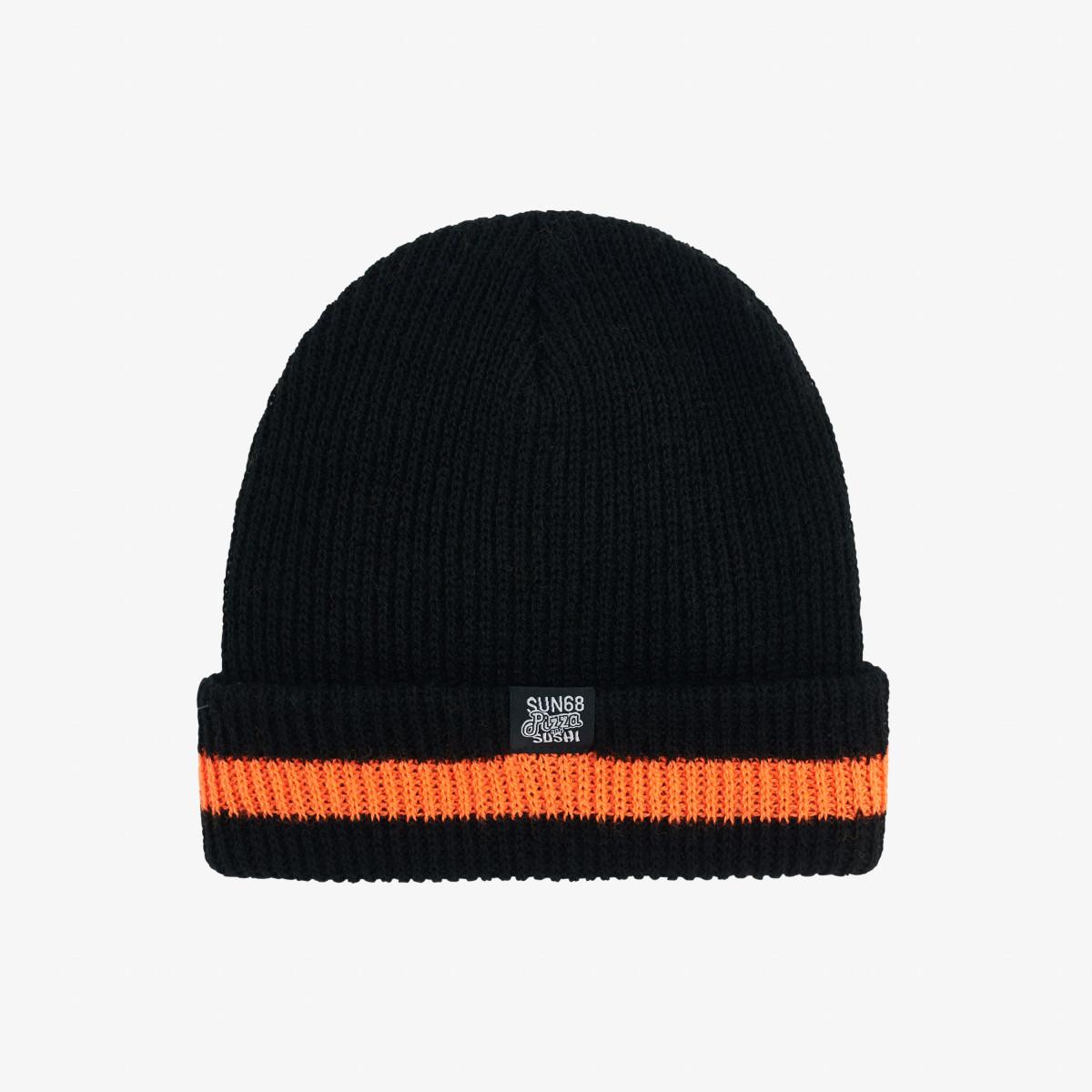 BOY'S CAP SOLID FLUO DETAILS NERO