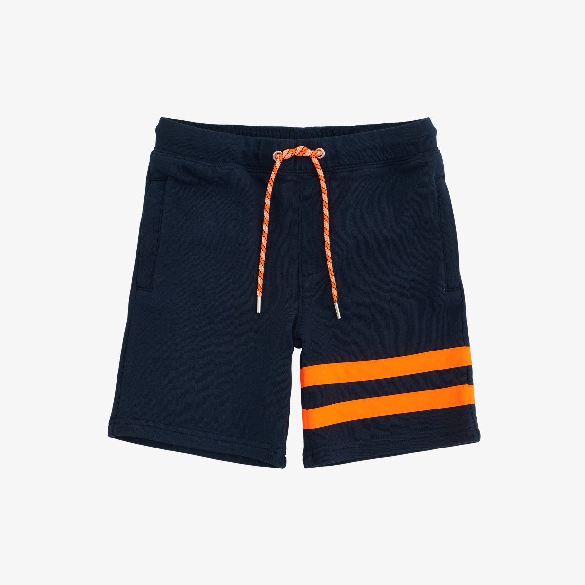 PANT SHORT FLUO COTT. FL. NAVY BLUE