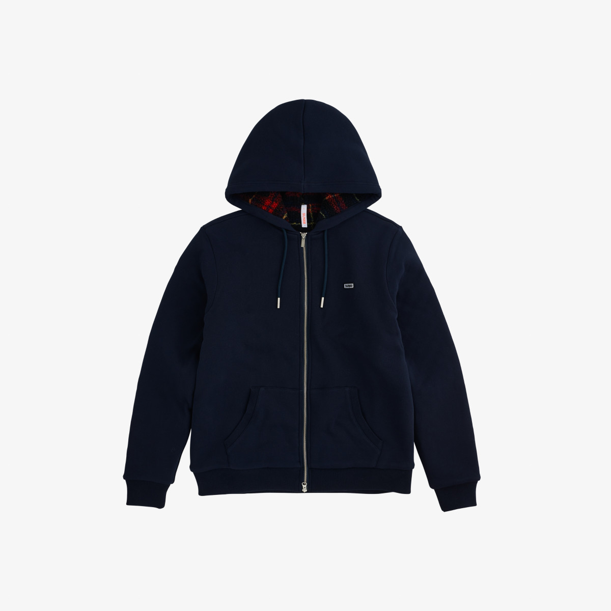 BOY'S HOOD INSIDE BEAR COTT.FL NAVY BLUE