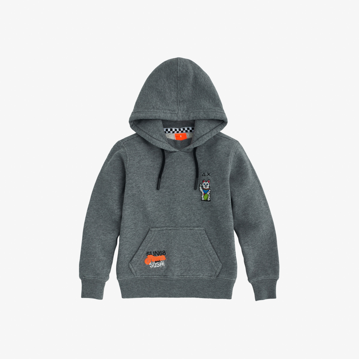BOY'S HOOD COTT.FL MEDIUM GREY