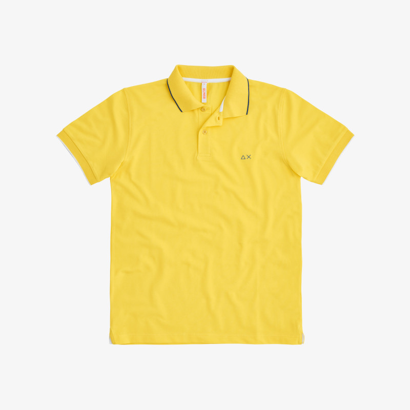 POLO SMALL STRIPE ON COLLAR EL. YELLOW