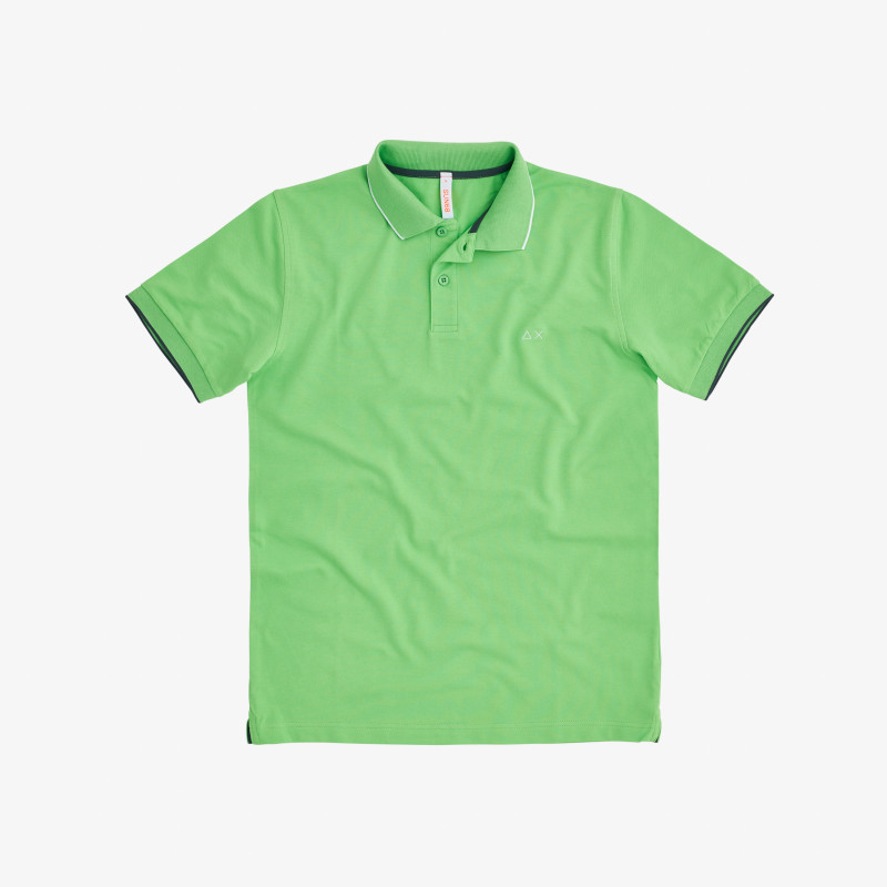 POLO SMALL STRIPE ON COLLAR EL. LIME