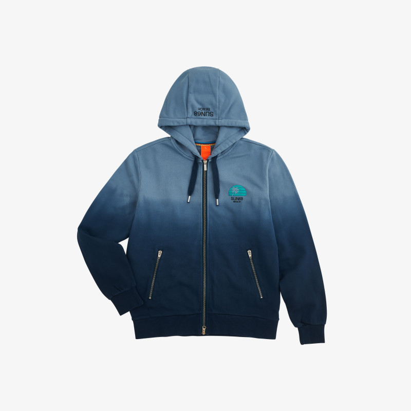 HOOD ZIP HANG DYE NAVY BLUE