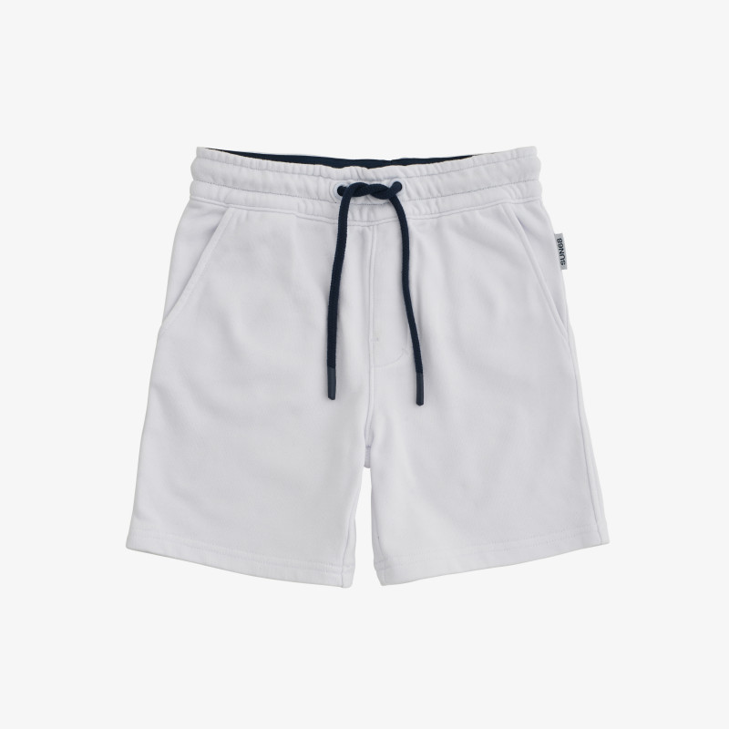 BOY'S PANT SHORT BASIC COTT. FL. WHITE