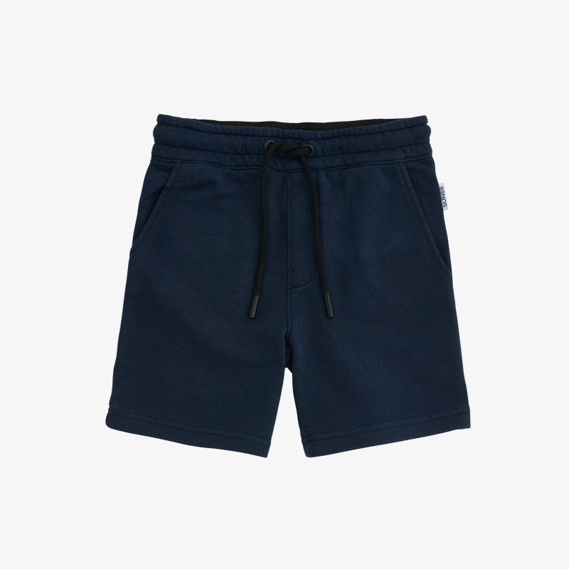 BOY'S PANT SHORT BASIC COTT. FL. NAVY BLUE
