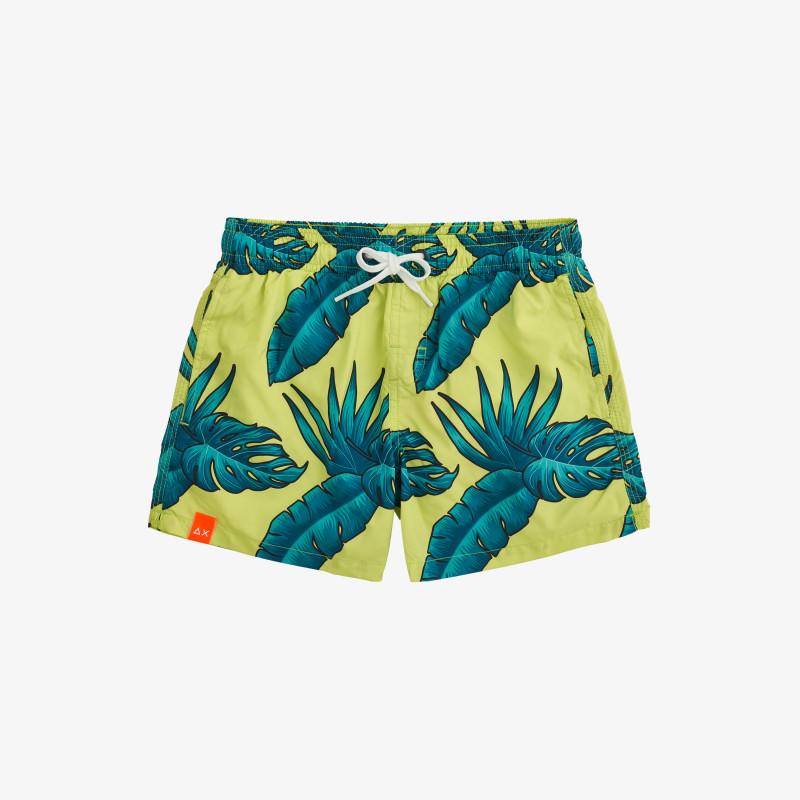 BOY'S SWIM PANT HAWAII FLUO GREEN FLUO/BLUE FLUO