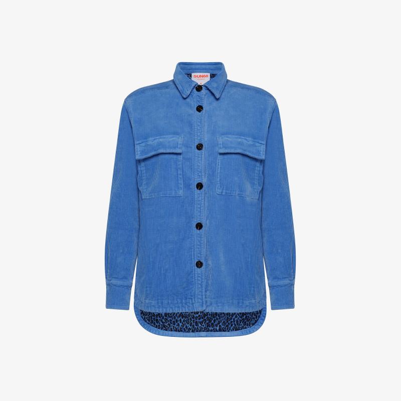 JACKET SHIRT CORDUROY BLUE