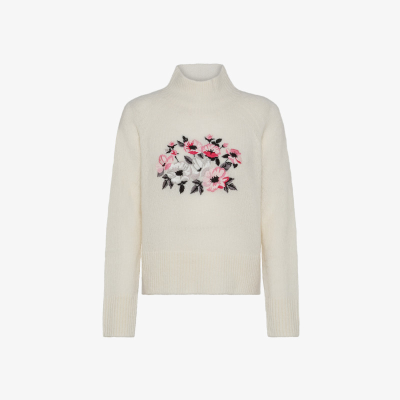 HIGH NECK EMBRODERY L/S PORCELLANA