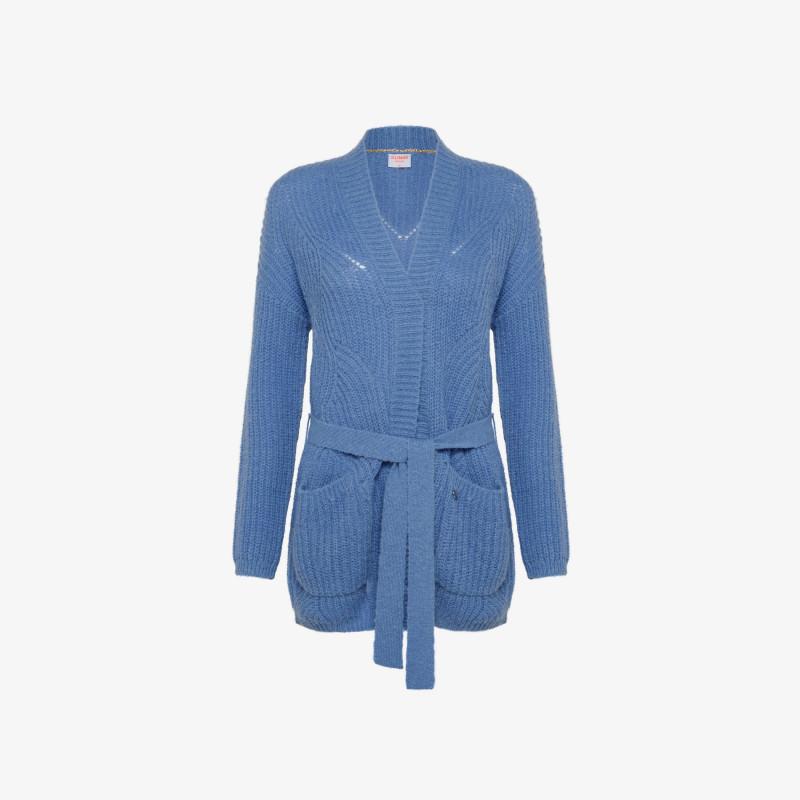 CARDIGAN HOLE L/S BLUE