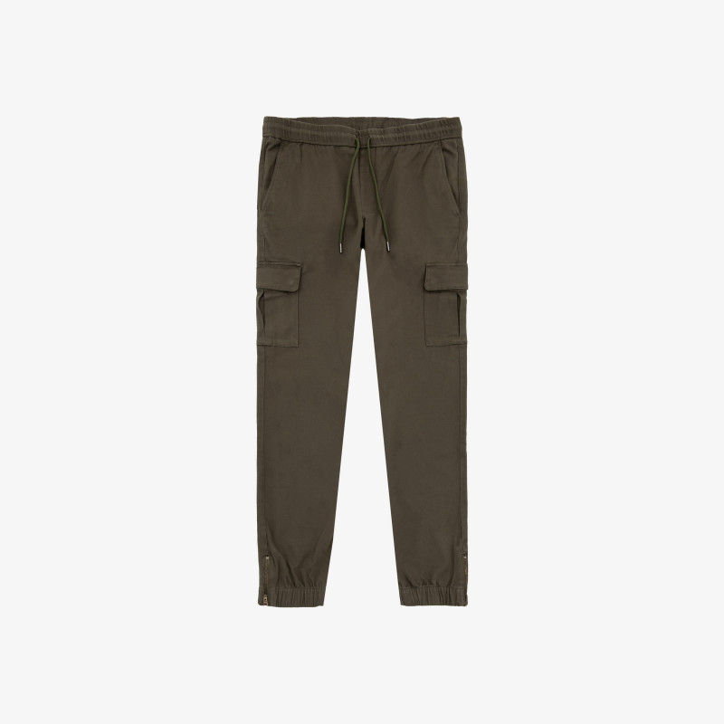 CHINO MILITARY ELASTIC BOTTOM MILITARE SCURO